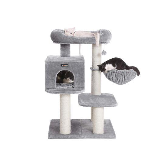 Ansamblu de joaca cu pat si pestera pentru pisici PCT01W 1