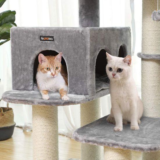 Ansamblu de joaca cu pat si pestera pentru pisici PCT01W 3
