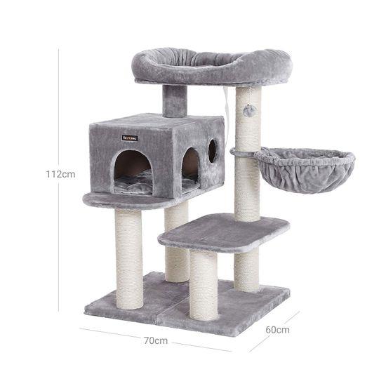 Ansamblu de joaca cu pat si pestera pentru pisici PCT01W 7