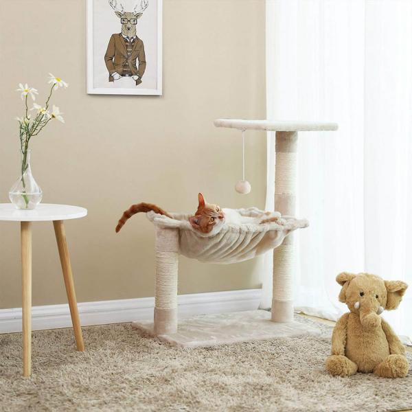 Ansamblu de joaca cu hamac pentru pisici PCT82M 1
