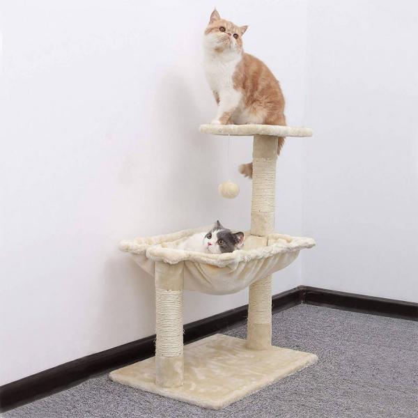 Ansamblu de joaca cu hamac pentru pisici PCT82M 3