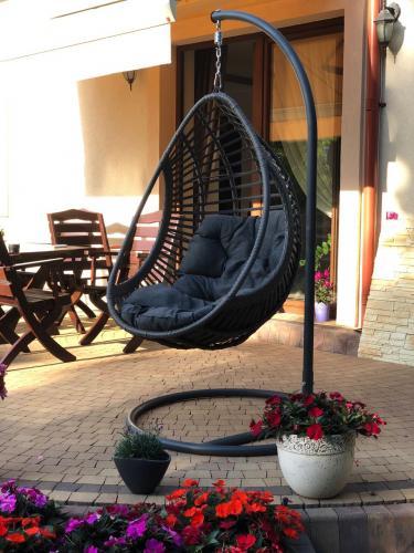 Scaune suspendate terasa/outdoor BELLISSIMO Gray brushed 3