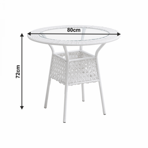 Set de gradina masa 4 scaune alb KOVEN [2]