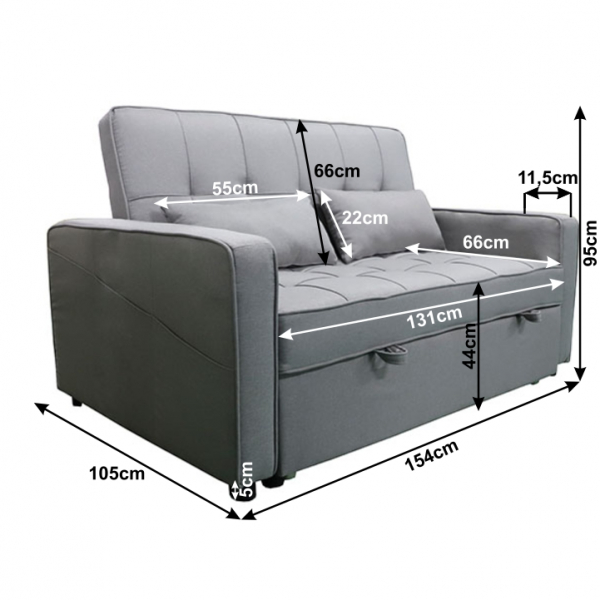 Canapea extensibila FRENKA BIG BED 14
