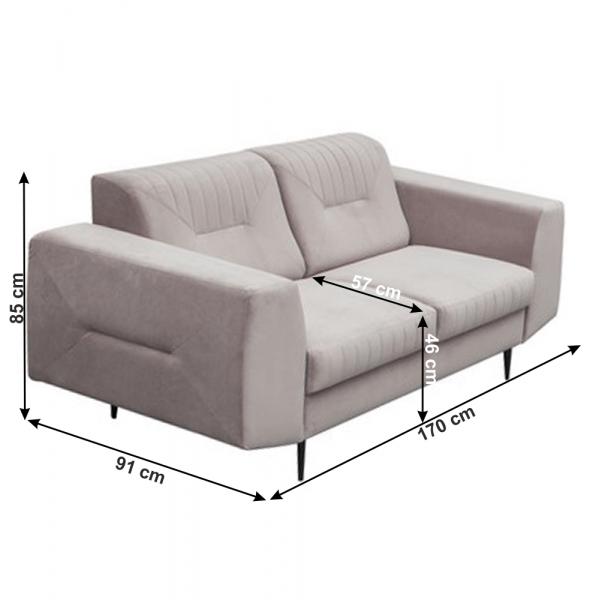 Canapea cu 2 locuri tapitata LEXUS [1]