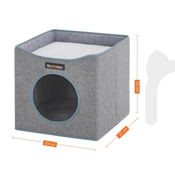 Casă pătrată de pisică cu pat PCB03G 4
