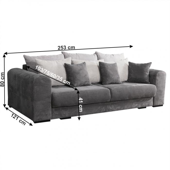 Canapea extensibila cu spatiu depozitare GILEN BIG SOFA [1]