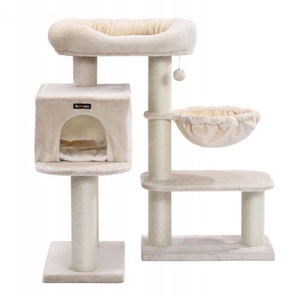 Ansamblu de joaca cu pat si pestera pentru pisici PCT01M 1