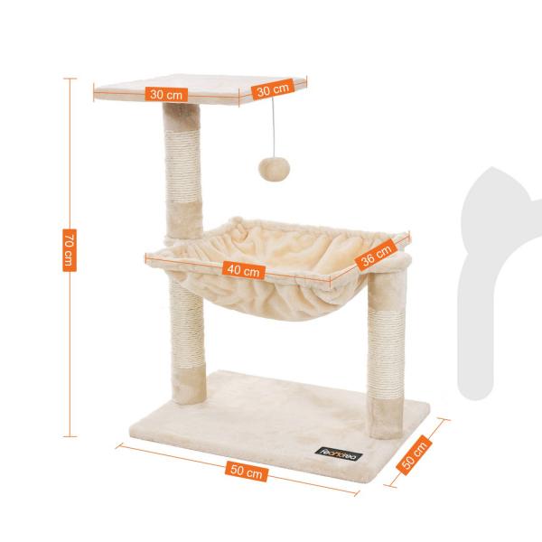 Ansamblu de joaca cu hamac pentru pisici PCT82M 4