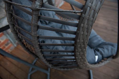 Scaune suspendate terasa/outdoor BELLISSIMO Gray brushed 4