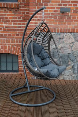 Scaune suspendate terasa/outdoor BELLISSIMO Gray brushed 7