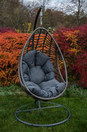 Scaune suspendate terasa/outdoor BELLISSIMO Gray brushed 0
