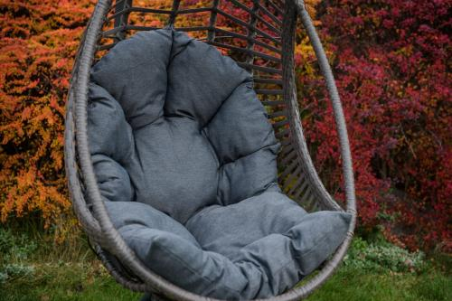 Scaune suspendate terasa/outdoor BELLISSIMO Gray brushed 5