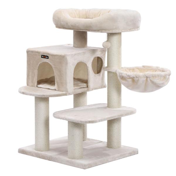 Ansamblu de joaca cu pat si pestera pentru pisici PCT01M 0