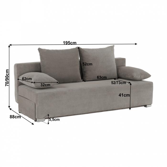 Canapea extensibila cu spatiu depozitare FERIHA [1]