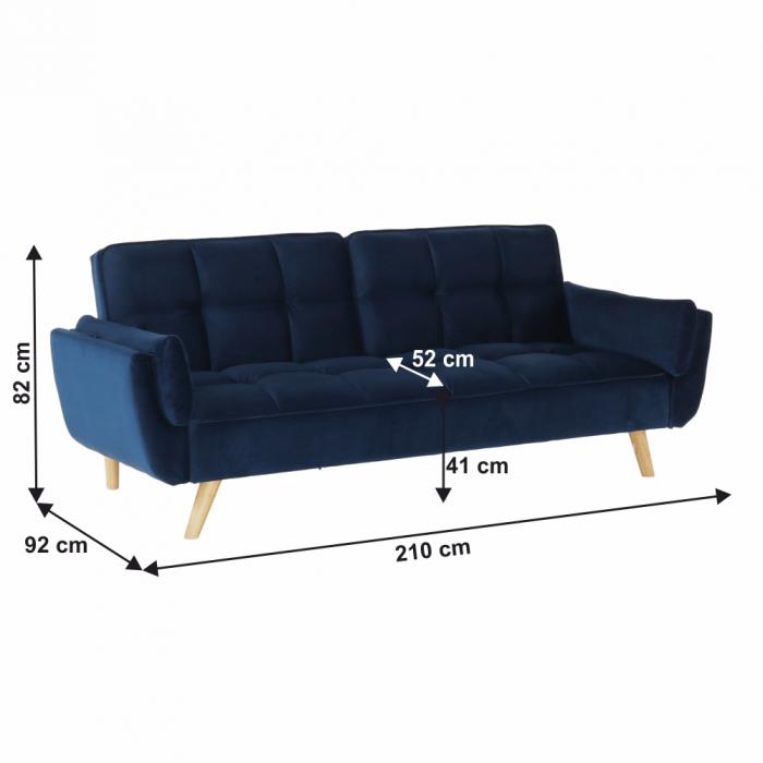 Canapea velvet extensibila FILEMA [1]