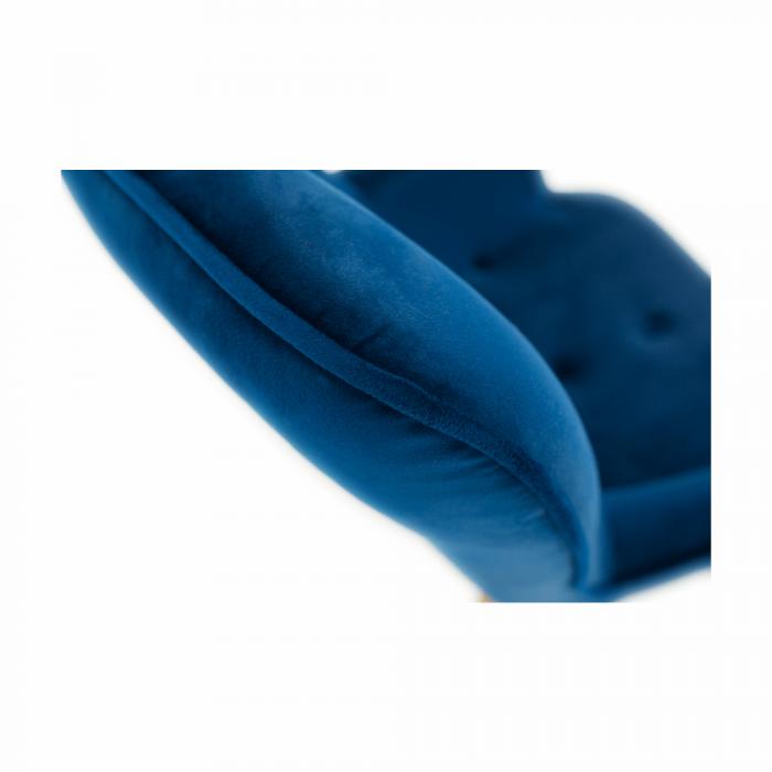 Fotoliu velvet albastru FODIL 8