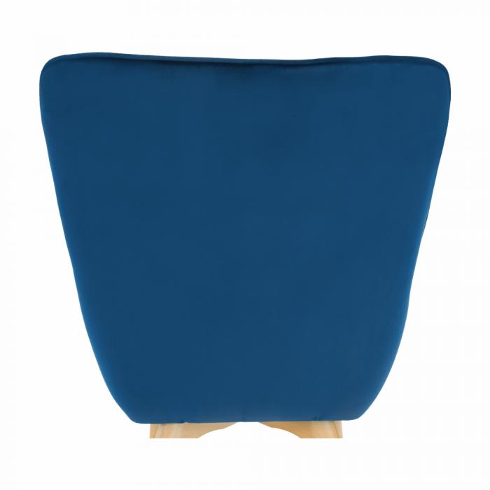 Fotoliu velvet albastru FODIL 12