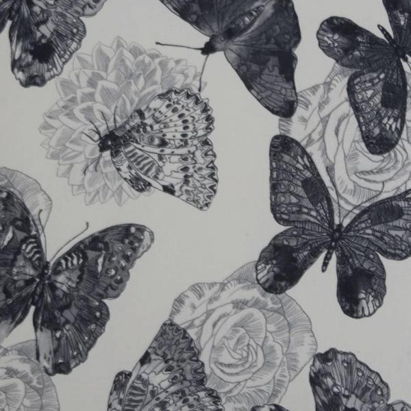Fotoliu cu taburet tapiterie textil vintage patchwork ASTRID 5