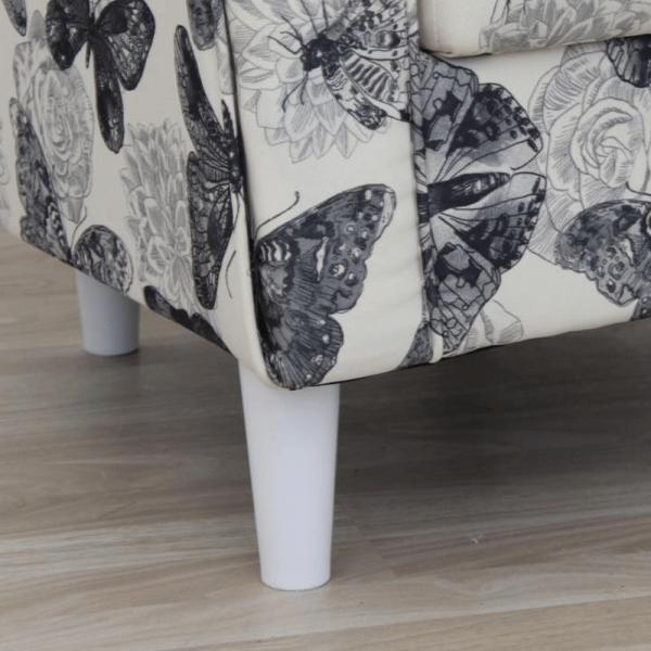 Fotoliu cu taburet tapiterie textil vintage patchwork ASTRID 4