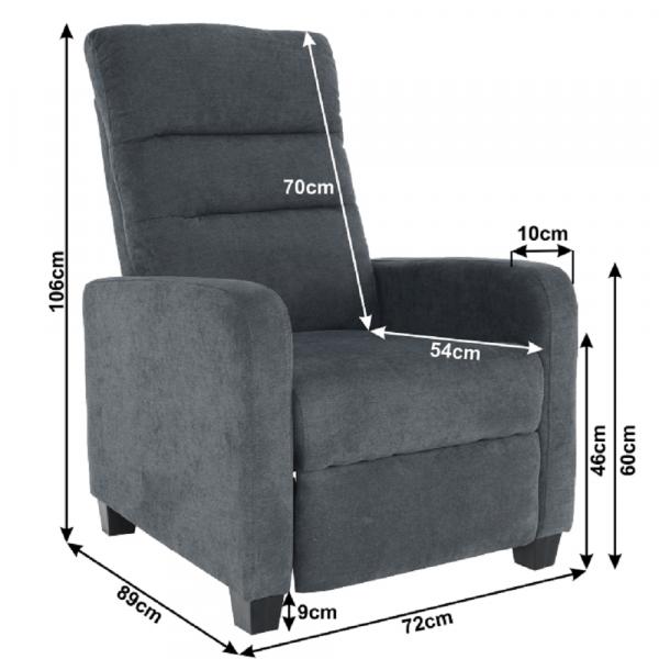 Fotoliu tapitat recliner TURNER 5