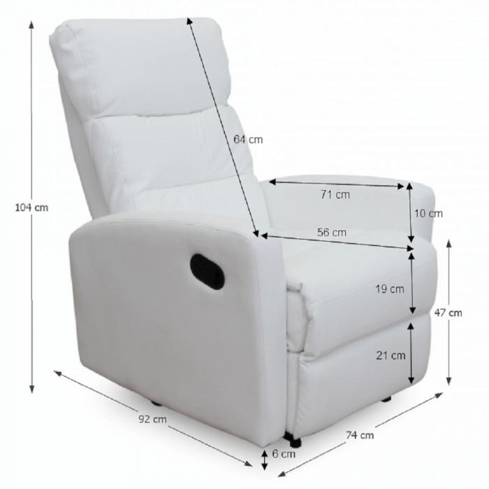 Fotoliu relaxare recliner imitatie piele SILAS 1