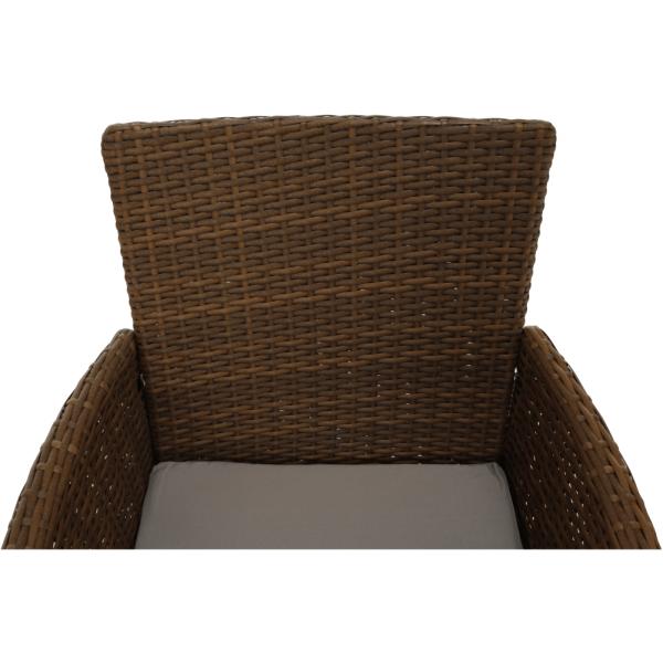 Set de gradina masa 6 scaune rattan miere/crem GARDEN 12