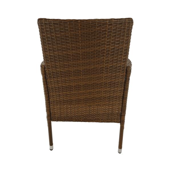 Set de gradina masa 6 scaune rattan miere/crem GARDEN 14