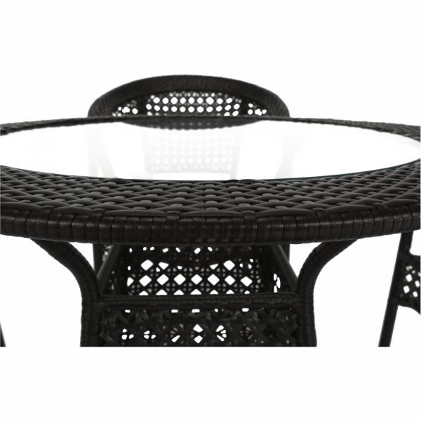 Set de gradina masa 4 scaune maro GETON 2