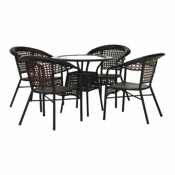 Set de gradina masa 4 scaune maro GETON 0