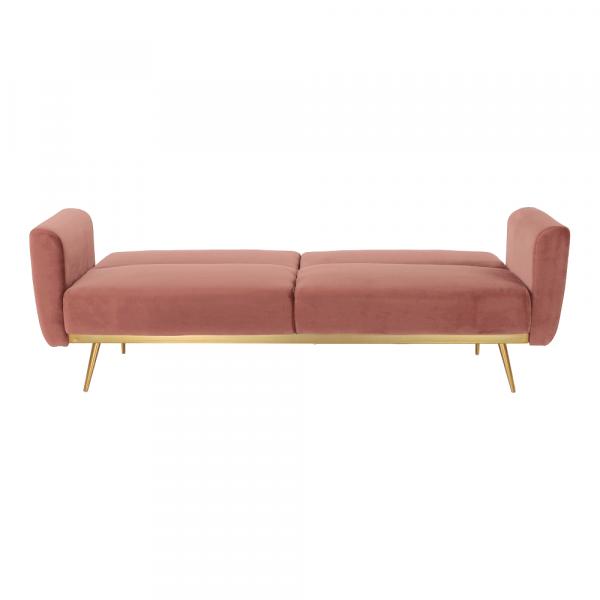 Canapea extensibila catifea roz HORSTA 7