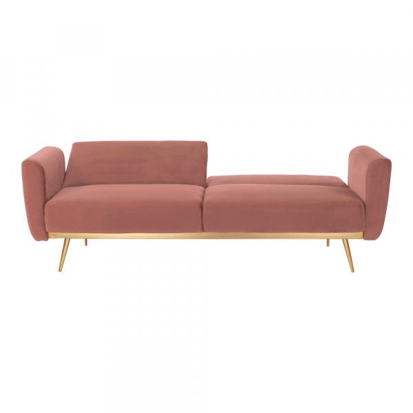 Canapea extensibila catifea roz HORSTA 3
