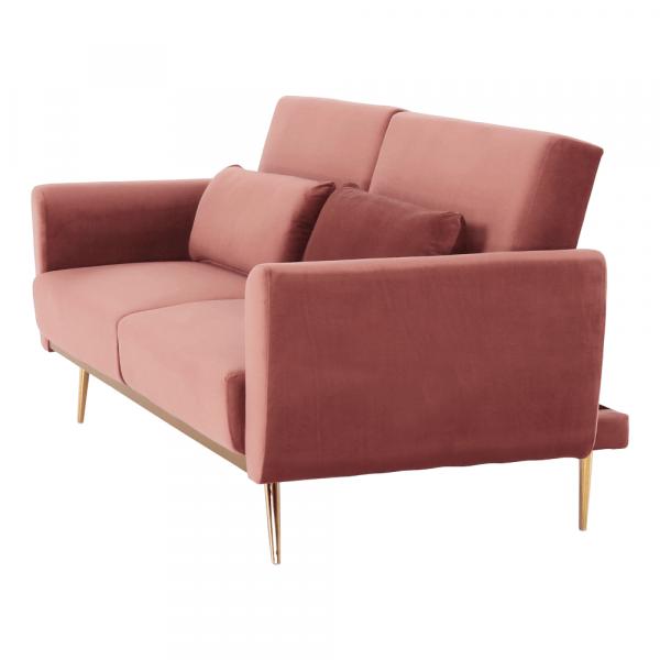 Canapea extensibila catifea roz HORSTA 1