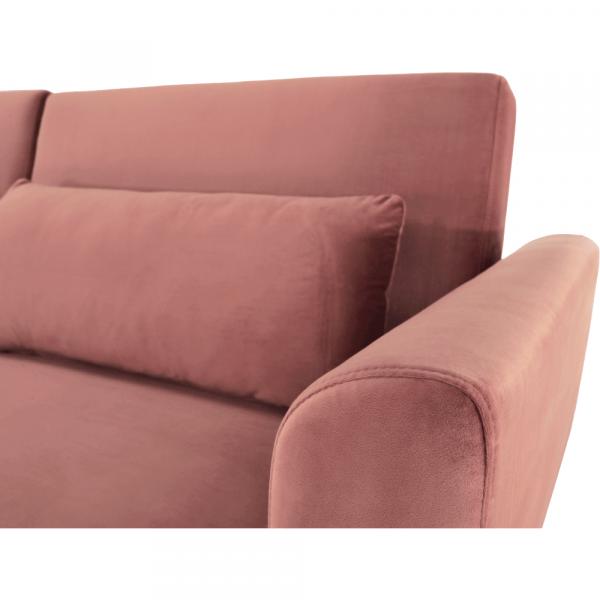 Canapea extensibila catifea roz HORSTA 9