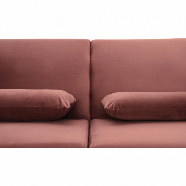 Canapea extensibila catifea roz HORSTA 8
