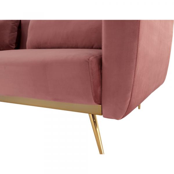 Canapea extensibila catifea roz HORSTA 11