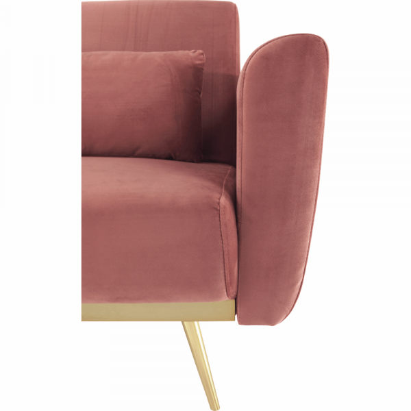 Canapea extensibila catifea roz HORSTA 12