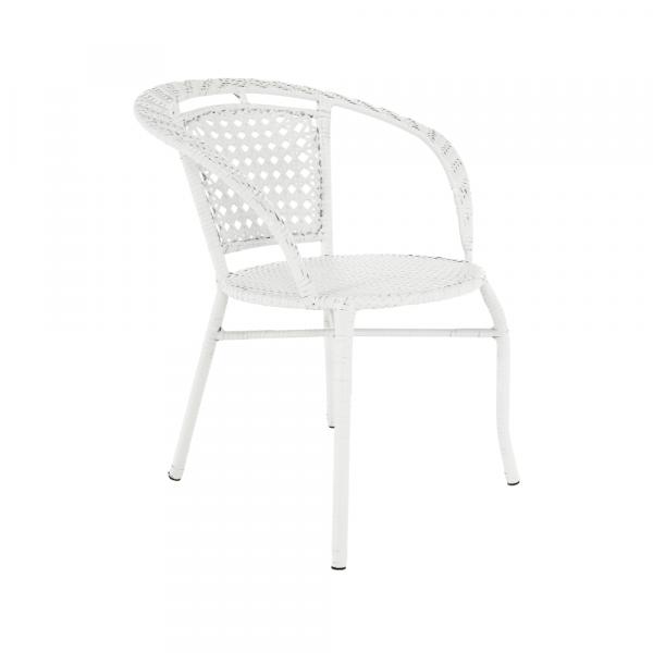 Set tehno-rattan de gradina masa 2 scaune alb JENAR 6