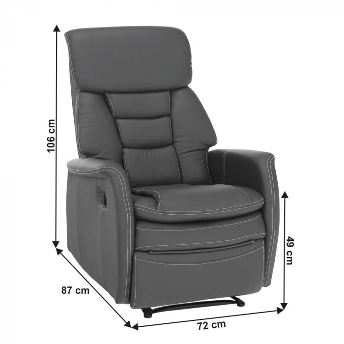 Fotoliu relaxare recliner imitatie piele KOMFY [1]