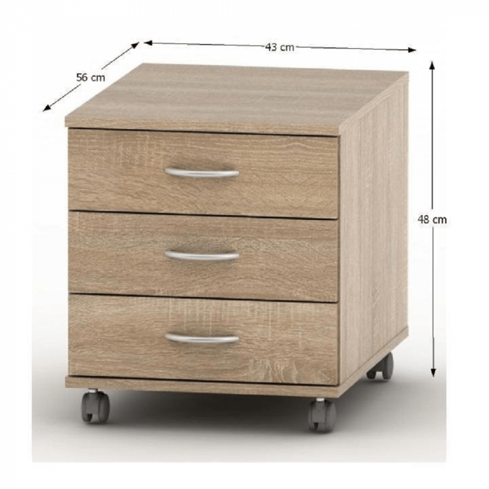 Dulap rollbox pentru birou TEMPO ASISTENT NEW 016 [1]