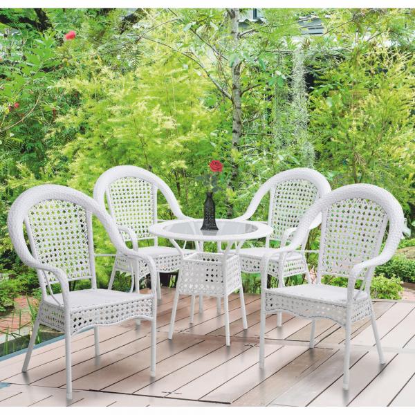 Set de gradina masa 4 scaune alb KOVEN [9]