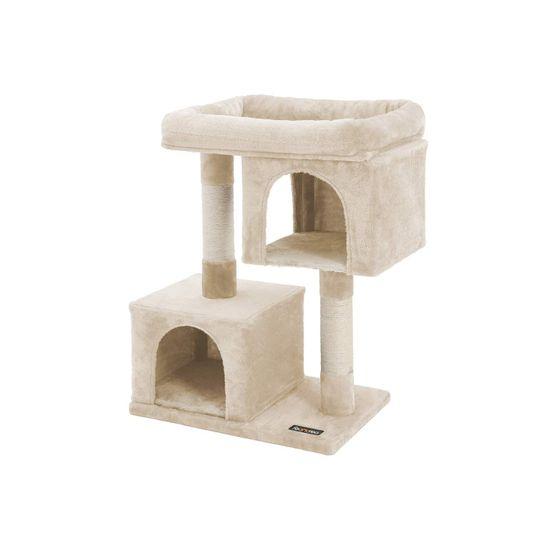 Ansamblu de joaca cu doua case pentru pisici PCT61M 0