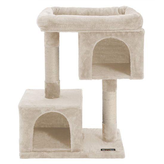 Ansamblu de joaca cu doua case pentru pisici PCT61M 1