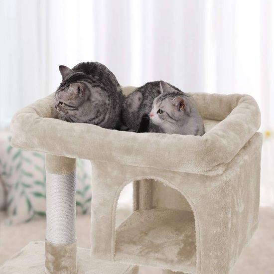 Ansamblu de joaca cu doua case pentru pisici PCT61M 4