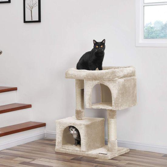 Ansamblu de joaca cu doua case pentru pisici PCT61M 6