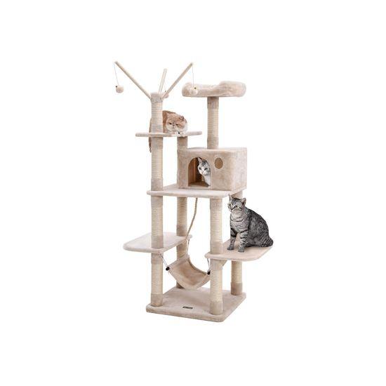 Ansamblu de joaca cu pat si hamac pentru pentru pisici PCT86M 1
