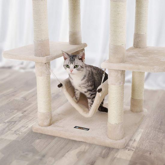 Ansamblu de joaca cu pat si hamac pentru pentru pisici PCT86M 4