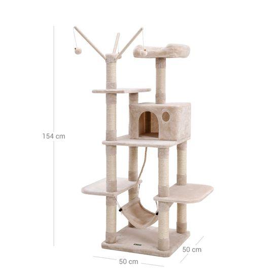 Ansamblu de joaca cu pat si hamac pentru pentru pisici PCT86M 5