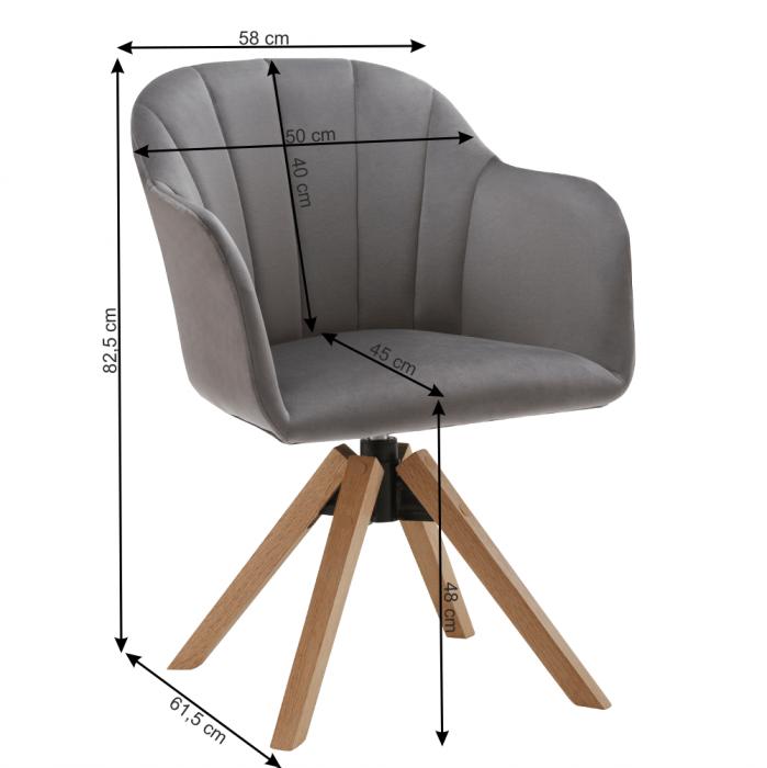 Fotoliu rotativ baza lemn DALIO 1