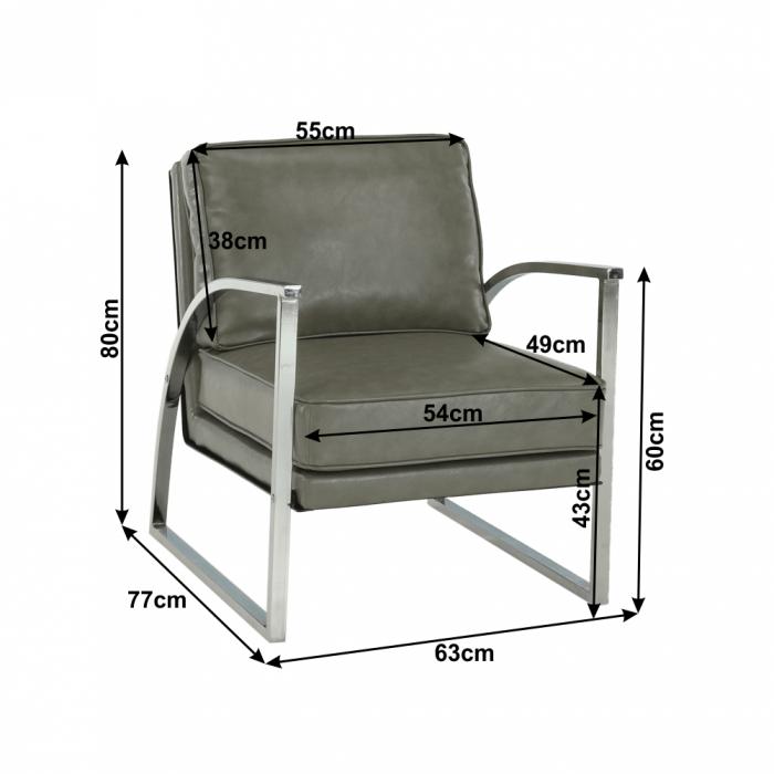 Fotoliu design cadru metal KUMON 1